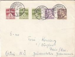 DÄNEMARK 1955 - 5 Fach Frankatur Auf Brief Gel.v. Kopenhagen > Prein - Dänemark