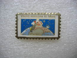 Pin's Timbre Poste USA 15c. Viking Missions To Mars - Mail Services