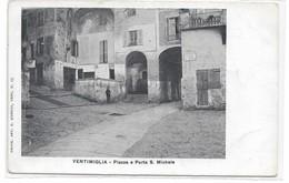 CARD VENTIMIGLIA  PIAZZA E PORTA SAN MICHELE (IMPERIA)-FP-N-2-  0882- 29007 - Imperia