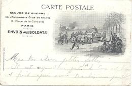 CPA Paris Oeuvre De Guerre De L'Automobile Club De France Place De La Concorde Envois Aux Soldats - Arrondissement: 08
