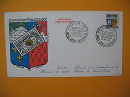 FDC  Réunion CFA 1964 N° 346B Blason De Saint Denis De La Réunion - Cartas