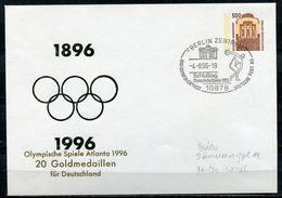 "Germany 1996 Privatganzsache Olympia Atlanta Mi.Nr.PU302  Mit SST""Berlin-Schlußtag,Olympische Spiele""1 Beleg - Sommer 1996: Atlanta"