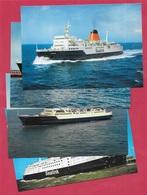 """CPM Ferries (Lot De 4) Ligne Du Détroit : Sealink - Car Ferry """"Chantilly"""" """"Compiègne"""" """"Chartres"""" - Ferries"""
