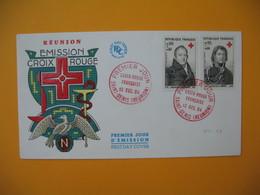 FDC  Réunion CFA 1964 N° 362 Et 363 Au Profit De La Croix Rouge De Saint Denis De La Réunion - Reunion Island (1852-1975)