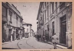 Cartolina Sesto Fiorentino (Firenze) Via A. Gramsci (con Tram). - Firenze (Florence)