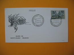 Enveloppe FDC  Réunion CFA 1965 N° 364  N° 346A  Moustiers De Sainte Marie - Reunion Island (1852-1975)