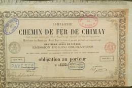 Compagnie Du Chemin De Fer De Chimay ( Aandeel Obligation Action ) - Chemin De Fer & Tramway
