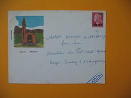 Enveloppe   Réunion CFA  N° 385 Marianne De Cheffer  Pour Le Matelot Buisson Unité Maritime à Madagascar Diégo-Suarez - Reunion Island (1852-1975)