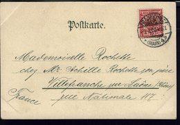 """Allemagne - 1900 - Timbre N° 47, 10 Pf Perforé L.C & Co Sur CPA """"Im Frankfurter Wald - Goetheruhe"""" Pour Villefranche S/S - Germany"""