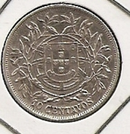 PORTUGAL 10 CENTAVOS 1915  SILVER/PLATA/ARGENT TTB UNC??? - Portugal