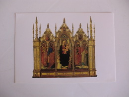 Postcard Postal Italy Fiesole Cattedrale Madonna Con Bambino E Santi - Firenze (Florence)