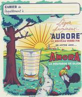 """PROTEGE - CAHIER  PUBLICITAIRE  """" AMORA MOUTARDE DE DIJON """" TB - Mostaza"""