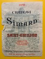 10571- Château Simard 1959 Saint-Emilion Etat Moyen - Bordeaux