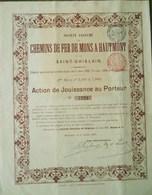 Société Anonyme Des Chemin De Fer De Mons à Hautmont ( Aandeel Obligation Action ) - Chemin De Fer & Tramway