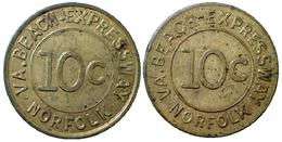 04195 GETTONE TOKEN JETON TRASPORTI TRASPORTATION TRAMWAYS VIRGINIA, NORFOLK, 1968 - Unclassified