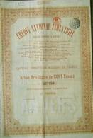 Crédit National Industriel Société Anonyme à Anvers Antwerpen ( Aandeel Obligation Action ) - Industrie
