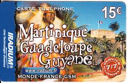 FRANCE - Martinique-Guadeloupe-Guyane, Iradium Prepaid Card 15 Euro(matt Surface), Exp.date 31/12/04, Used - Prepaid-Telefonkarten: Andere