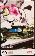 Mobilecard Thailand - True Move  -  Musik - Plattenspieler - Hund,dog - Thaïland