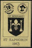 Etiquette De Vin // St.Saphorin, Scouts, Les Anciens St.Bernard,Suisse - Etiquettes