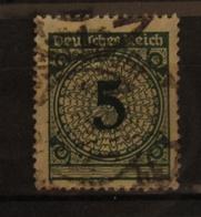 🔎 Rentenmark 5 Pf Überfette 5 Plattenfehler, Mi 339 III, O GST , Value 40,- - Engraving Errors