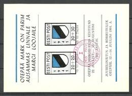 Estland Estonia 1991 Postkarte Mit Sonderstempel + Otepää Odenpäh Stamp Illustration - Estland