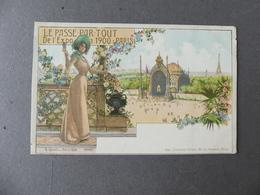 LE  PASSE-PARTOUT DE L'EXPOSITION 1900 PARIS - Reclame