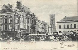 Ath - Grande Place Pendant Le Marché 1909 - Animée - Ath