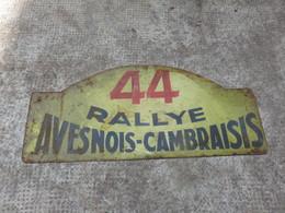 PLAQUE 44 RALLYE AVESNOIS-CAMBRAISIS - Voitures (Courses)