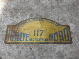 PLAQUE 117 RALLYE DES ROUTES DU NORD - Sonstige
