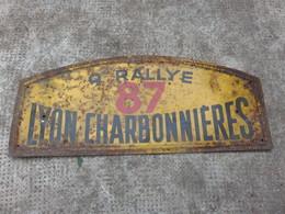 PLAQUE 9 RALLYE 87 LYON CHARBONNIERES - Sonstige