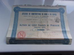 ATELIERS DE CONSTRUCTIONS DU NORD & DU CENTRE (1913) Fives-lille , NORD - Hist. Wertpapiere - Nonvaleurs