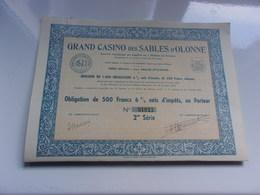 GRAND CASINO DES SABLES D'OLONNE (1941) - Hist. Wertpapiere - Nonvaleurs