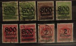 DR Reich Infla Mi. 303, 304, 305, 306, 307, 309A, Stempel Nicht Prüfbar, Not Signable - Allemagne