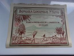 BONGOLA LOKUNDJE N'YONG (douala,cameroun) - Hist. Wertpapiere - Nonvaleurs