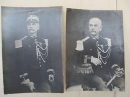 1895 CAPITAINE DE GENDARMERIE JEAN AUGUSTE LAMY 2 PHOTOS 14cm/10cm 1895 - Police & Gendarmerie