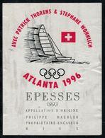 Etiquette De Vin // Epesses, Jeux Olympique Atlanta 1996 - Bateaux à Voile & Voiliers