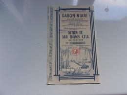 GABON NIARI (dolisie A.E.F.) - Hist. Wertpapiere - Nonvaleurs