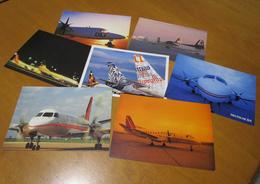 Lotto 7 Postcards Deutsche BA - DLT Fokker 50 - B737 D-ADBG - Saab 340 Set 7 Cartoline - 1946-....: Era Moderna