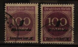 DR Reich Infla Mi. 331a, 331b, Stempel Nicht Prüfbar, Not Signable - Usados