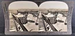Vintage CHILE Keystone STEREOSCOPIC VIEW - Drying And Sacking Nitrate For Shipment - Stereoscopic