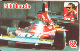 USA - Niki Lauda, US Prepaid Card $2, Mint - Cars