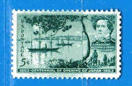 (Mn1) Stati Uniti * - 1953.- Baie De Tokio Et Commodore - Yvert. 572. Mn - Avec Charnière - Nuovi. - Nuovi