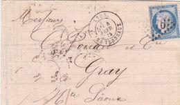 743-  CERES 60 -   LYON  A  GRAY - Postmark Collection (Covers)