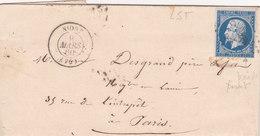 743-  NAPOLEON 14  -   NIORT  A  PARIS - Postmark Collection (Covers)