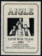 Etiquette De Vin // Aigle, Bob à Quatre Giob Bob Team 1984 - Etiquettes