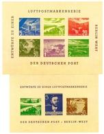 GERMANIA13) Berlin Bephila 1957 Luftpostmarkenserie 57/2 57/3 - Nuovi