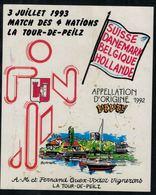 Etiquette De Vin // Vevey, Match Des 4 Nations La Tour-de-Peilz, Vaud, Suisse - Etiquettes