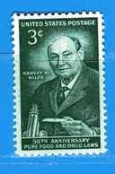 (Mn1) Stati Uniti * - 1956.- Harvey W. Wiley. - Yvert. 617. Mn - Avec Charnière - Nuovi. - Nuovi