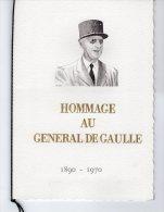 """A SAISIR """" HOMMAGE A DE GAULLE """" Livret Ceres Luxe N°té / SOIE 12 Pages Avec 2 Bandes Et 8 Timb. Oblit. Colombey + Lille - De Gaulle (General)"""