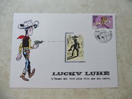 Bd Carte Illustrée Lucky Luke Courcelles RARE!!! Parfait Etat A SAISIR - Belgique